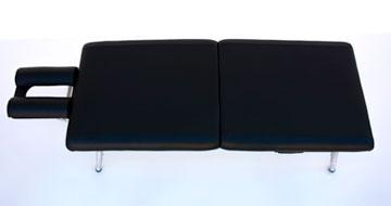 lightweight portable chiropractic table chiroport elite 22 black top view