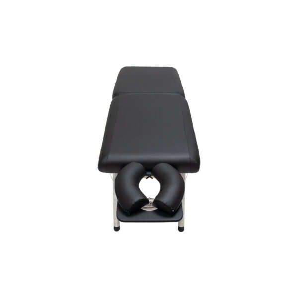lightweight portable chiropractic table chiroport elite 17 black front view
