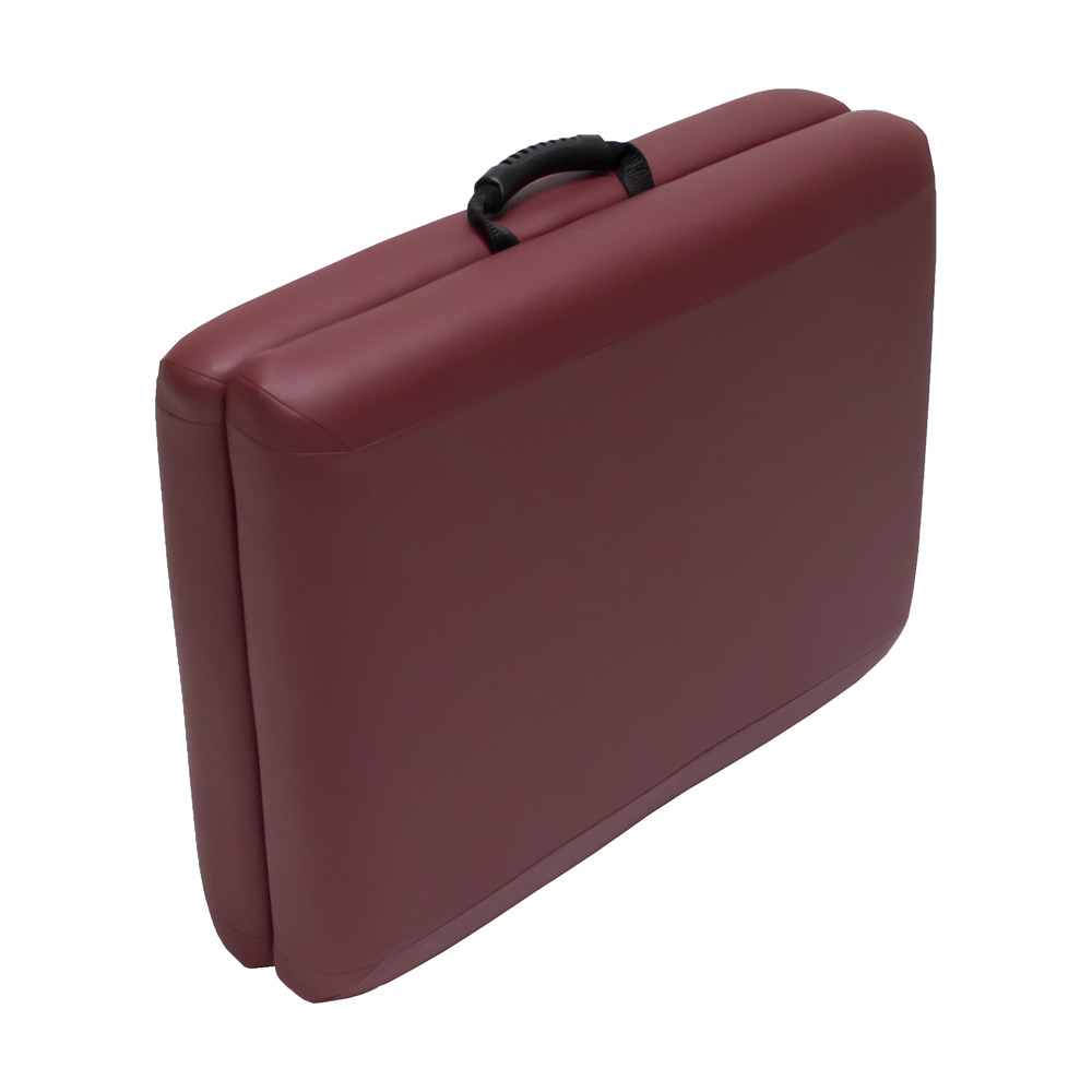 lightweight portable chiropractic table chiroport elite 22 burgundy closed