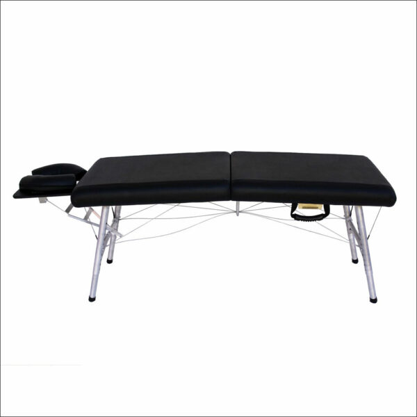 lightweight portable chiropractic table Chiroport elite 17 black side view