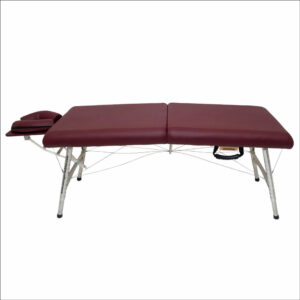 lightweight portable chiropractic table Chiroport elite 22 burgundy side view