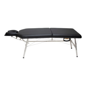 lightweight portable chiropractic table chiroport elite extended neck black side view