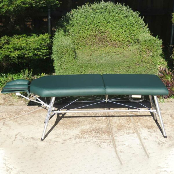 lightweight portable chiropractic table Chiroport elite extended neck hunter side view outside