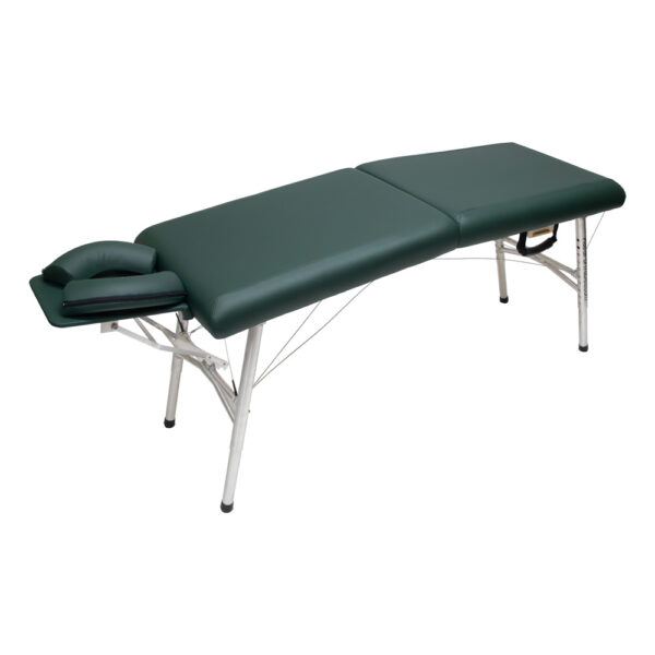 lightweight portable chiropractic table chiroport elite 20 hunter angle view