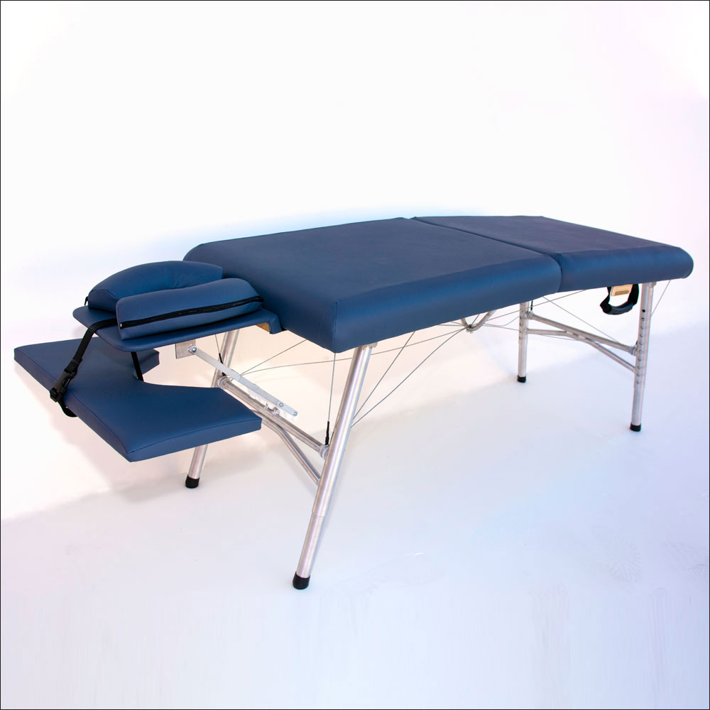 lightweight portable chiropractic table with arm rest