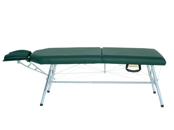 lightweight portable chiropractic table Chiroport elite extended neck hunter side view