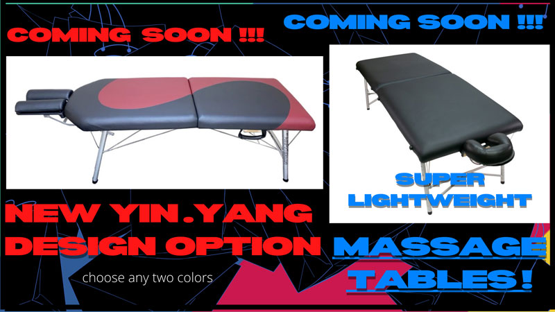 New massage tables coming soon, including Yin.Yang design option