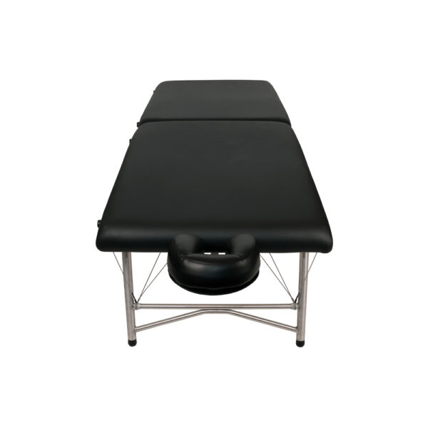 super-lightweight portable massage table black front view