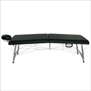super-lightweight portable astraport massage table black side view