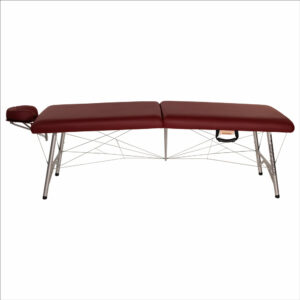super-lightweight portable astraport massage table burgundy side view