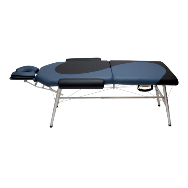 lightweight portable chiropractic table YinYang design Black and Agate color with Lock Rod side view