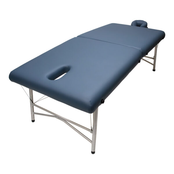 super-lightweight portable massage table cosmos ii agate face hole without plug angle view