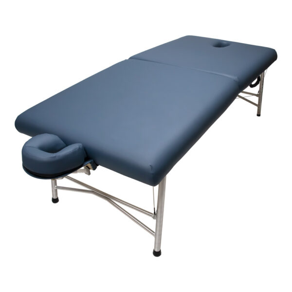 super-lightweight portable massage table cosmos ii agate head cradle angle view