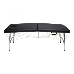 super-lightweight portable massage table black with face hole